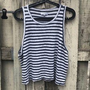Community striped linen crop top XXS, M